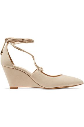 SCHUTZ Nubuck wedge pumps