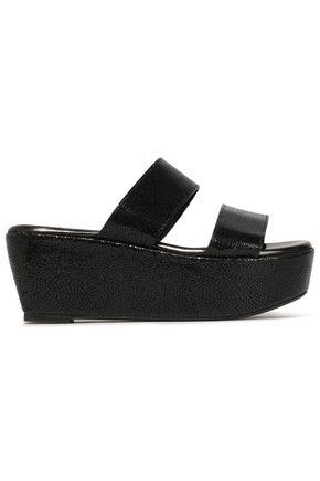 ROBERT CLERGERIE Frazuc textured-leather platform sandals