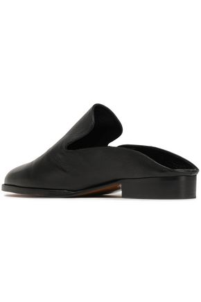 ROBERT CLERGERIE Textured-leather slippers