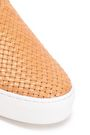 MICHAEL KORS COLLECTION Frayed woven leather slip-on sneakers