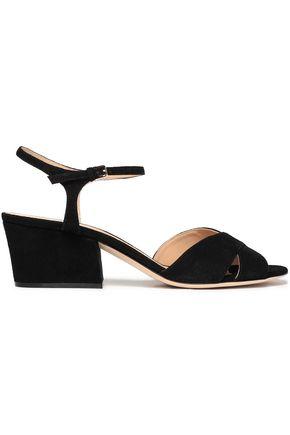 SERGIO ROSSI Vernice suede sandals