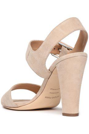 SERGIO ROSSI Suede slingback sandals