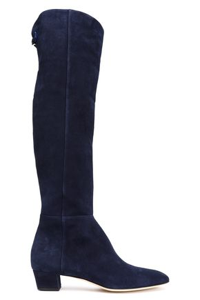 SERGIO ROSSI Royal suede knee boots