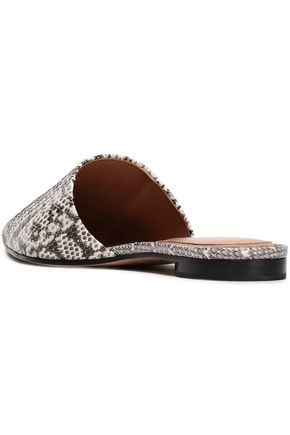 MICHAEL KORS COLLECTION Snakeskin slippers