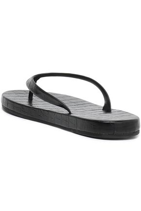 MICHAEL KORS COLLECTION Croc-effect leather sandals