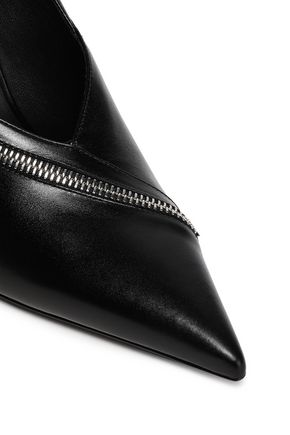 MICHAEL KORS COLLECTION Zip-detailed leather pumps