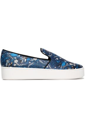 MICHAEL KORS | Michael Kors Collection Printed Leather Slip-On Sneakers | Goxip