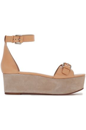 MICHAEL KORS COLLECTION Buckled leather platform sandals