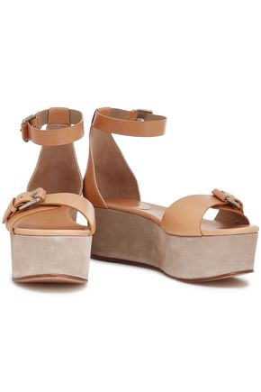 MICHAEL KORS COLLECTION Buckled leather platform sandals