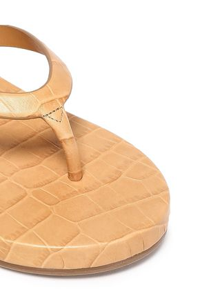 MICHAEL KORS COLLECTION Croc-effect leather sandals