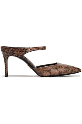 MICHAEL KORS COLLECTION Snakeskin mules