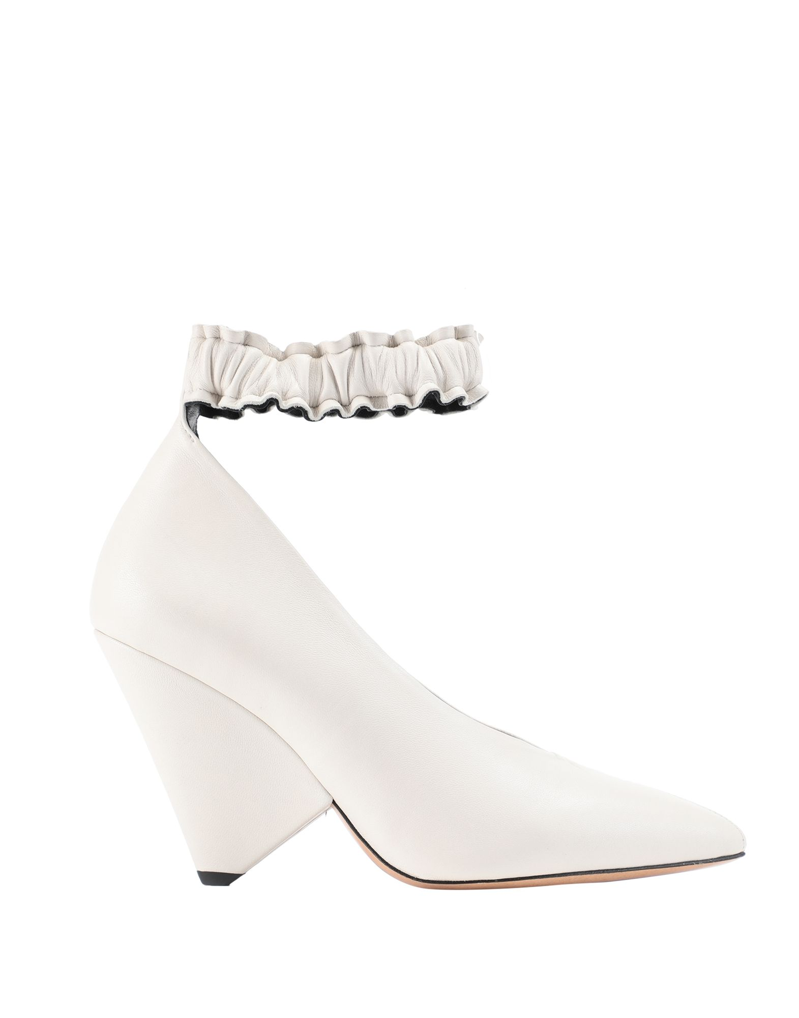 ISABEL MARANT Pumps. no appliqués, solid color, narrow toeline, cone heel, leather lining, leather sole, contains non-textile parts of animal origin, small sized. Goat skin
