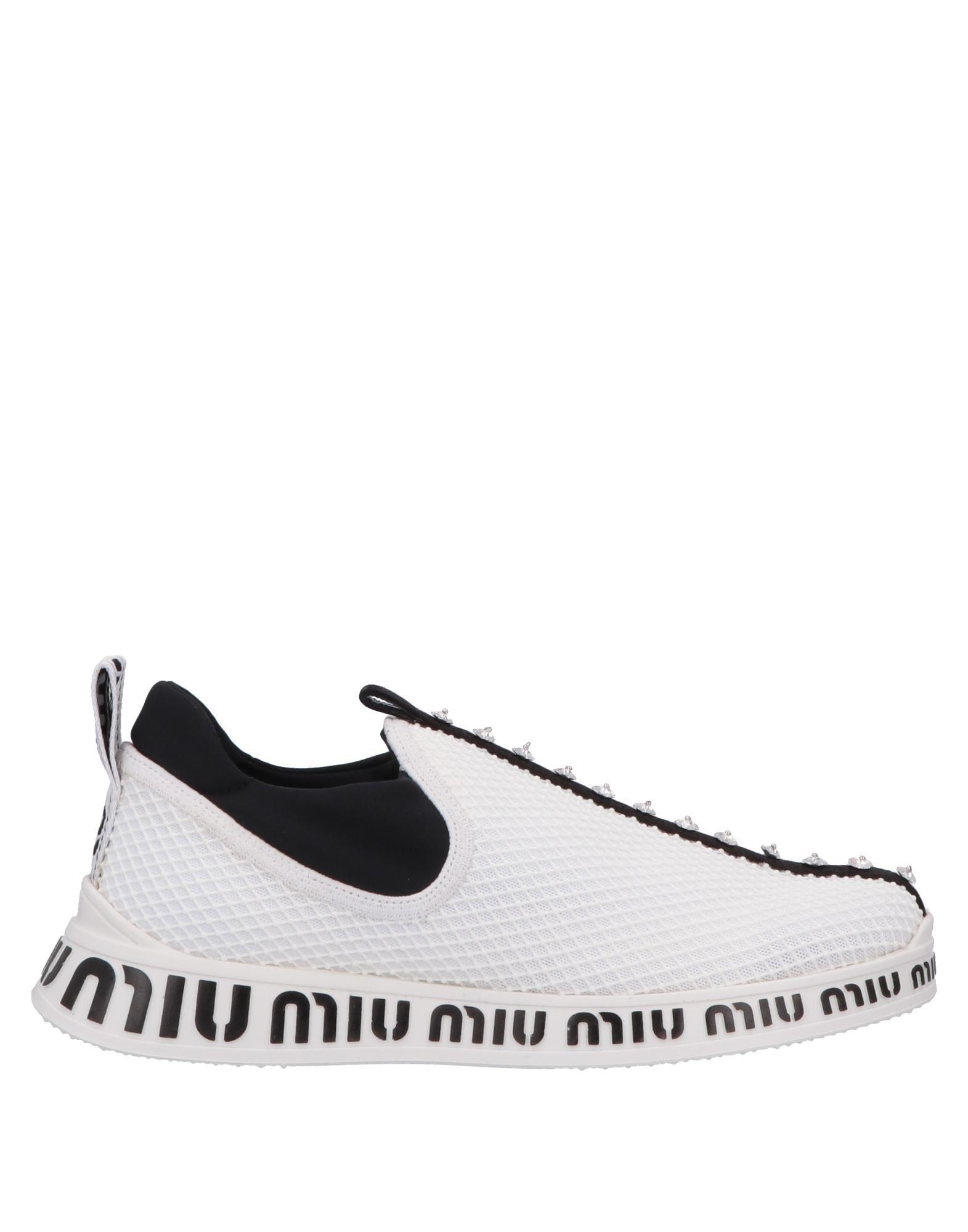 MIU MIU Низкие кеды и кроссовки