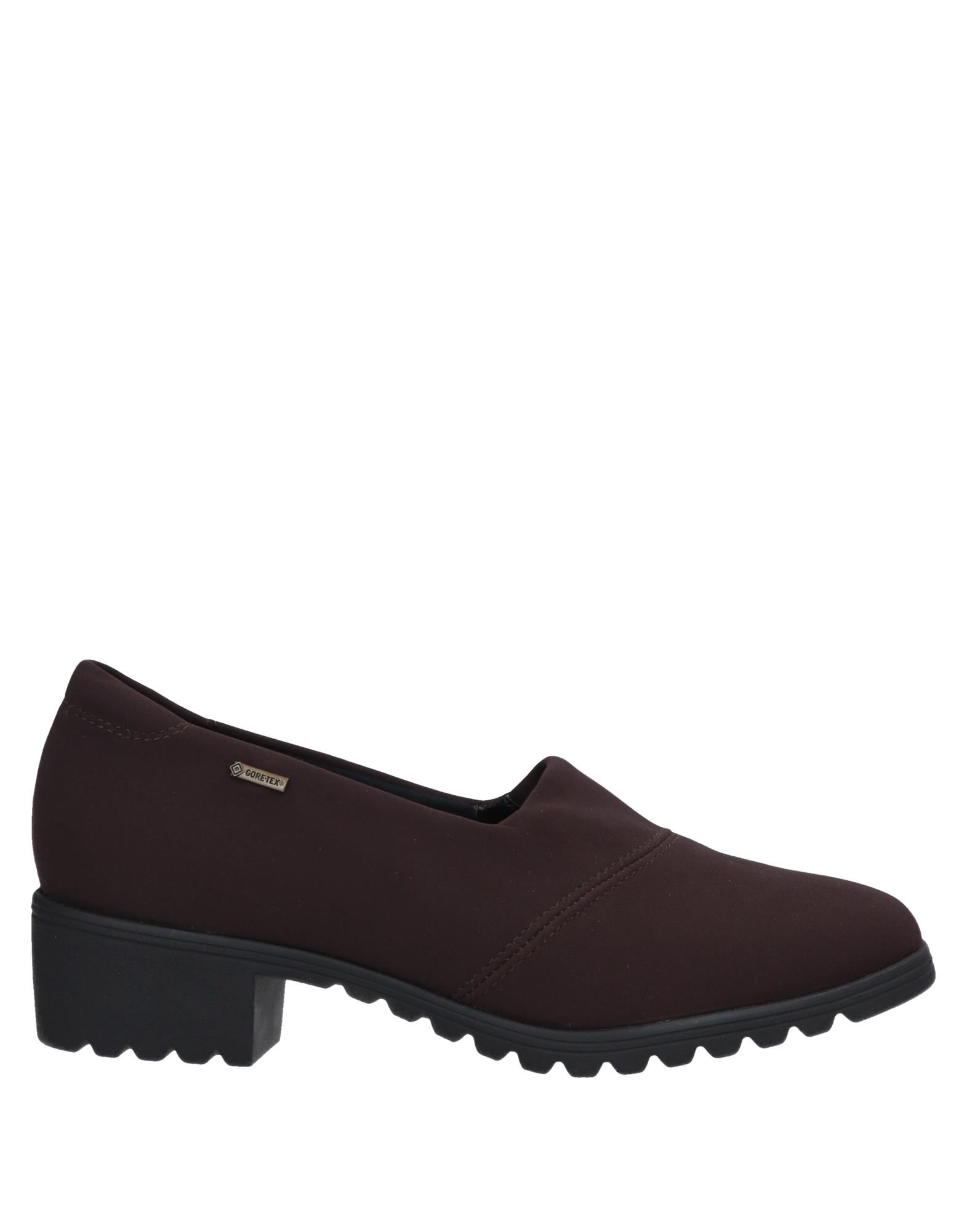 ARA Loafers. plain weave, logo, solid color, round toeline, square heel, fully lined, rubber cleated sole. Textile fibers