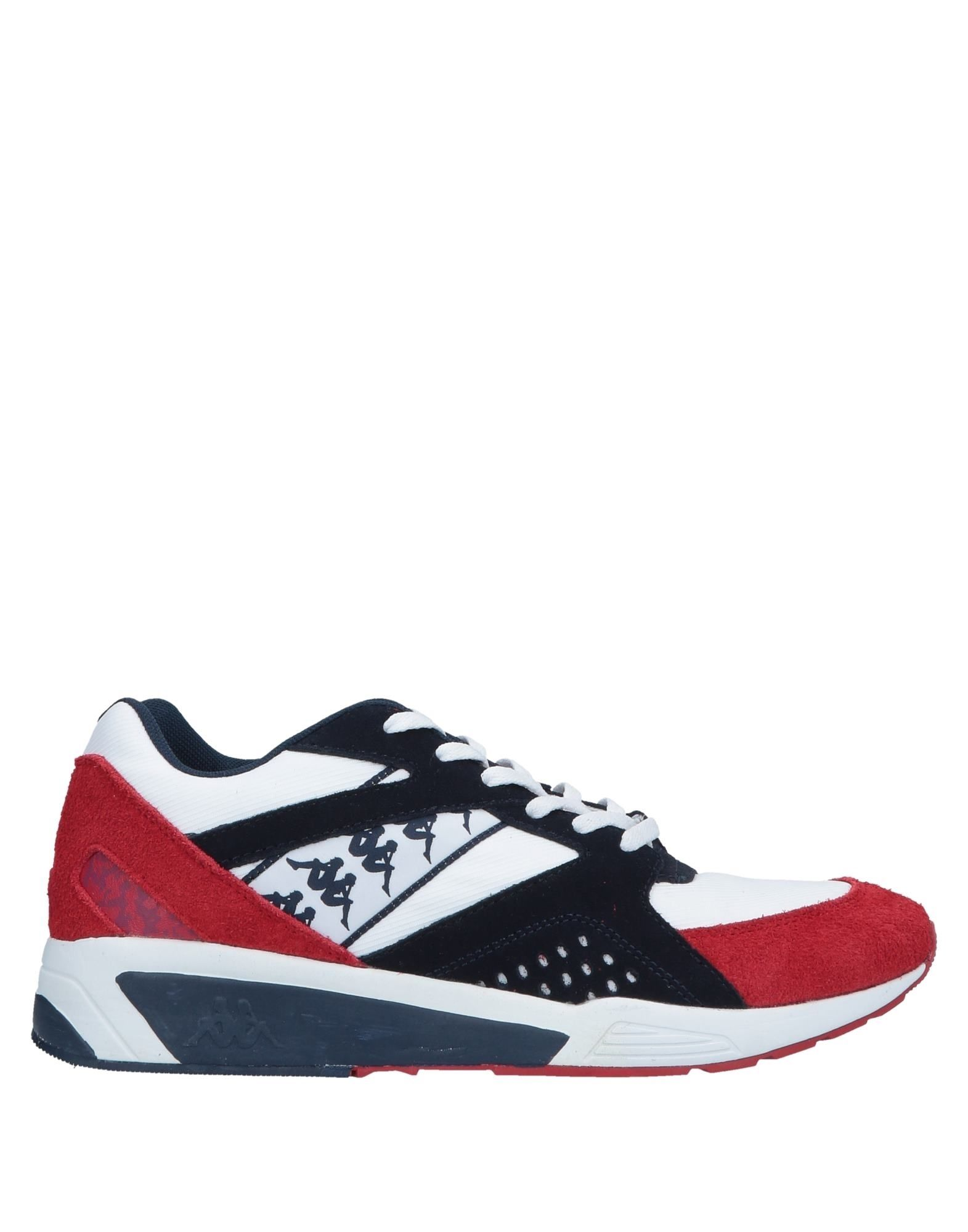《セール開催中》KAPPA メンズ スニーカー&テニスシューズ(ローカット) レッド 7.5 革 / 紡績繊維