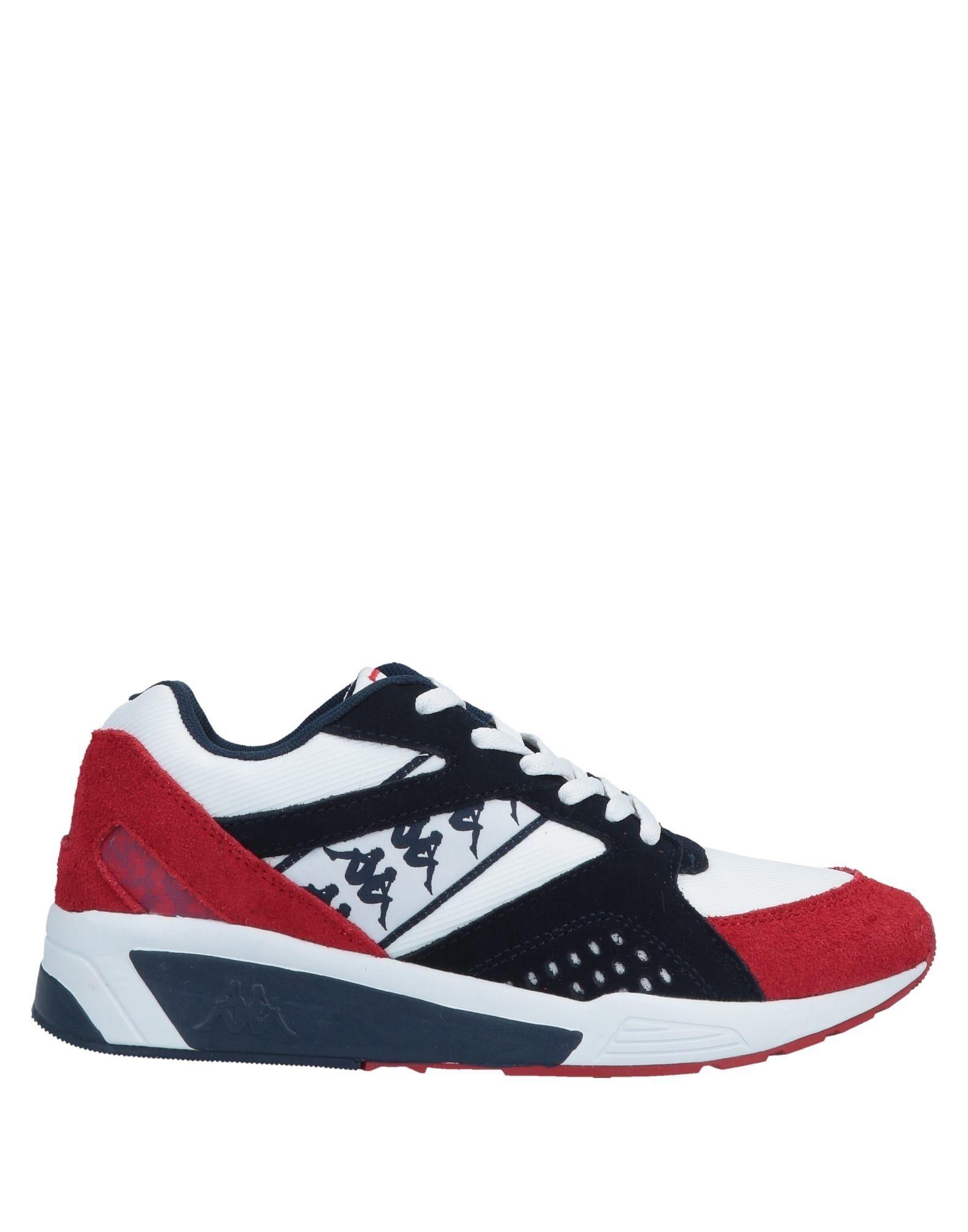 《セール開催中》KAPPA メンズ スニーカー&テニスシューズ(ローカット) レッド 8 革 / 紡績繊維