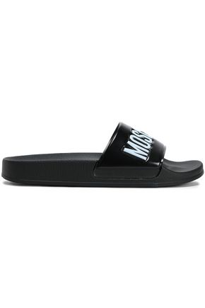 MOSCHINO Embossed rubber slides