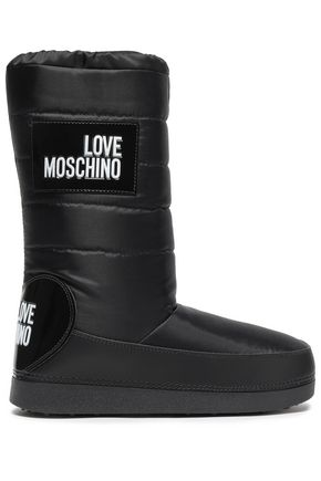 LOVE MOSCHINO Appliquéd shell snow boots