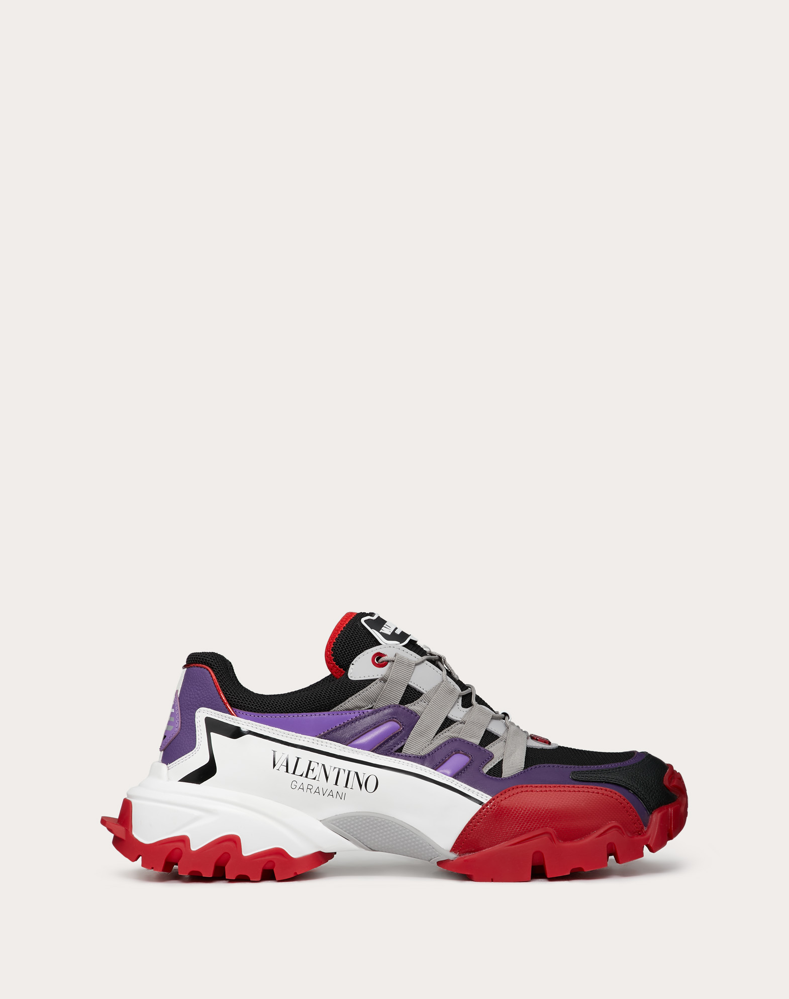 Climbers Sneaker in leather and fabric