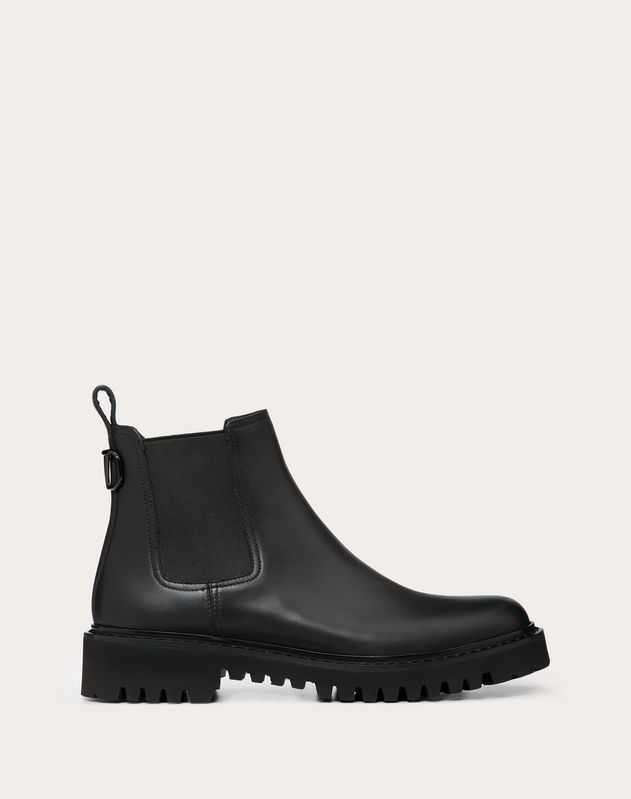 Calfskin VLOGO ankle boots