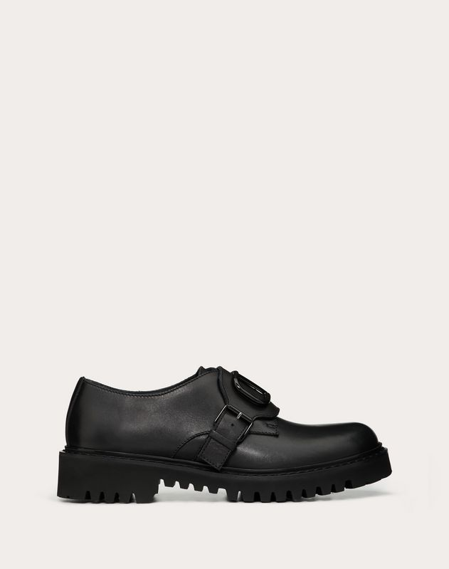 VLOGO derby boots in calfskin leather