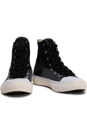 McQ Alexander McQueen Leather-trimmed canvas sneakers