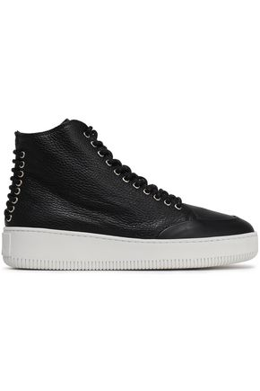 McQ Alexander McQueen Textured-leather sneakers