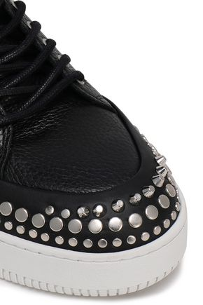 McQ Alexander McQueen Studded textured-leather sneakers