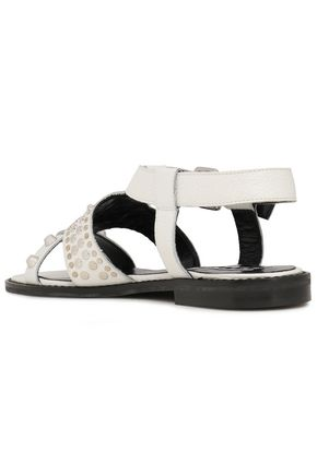 McQ Alexander McQueen Studded textured-leather sandals