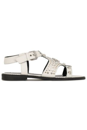 McQ Alexander McQueen Studded textured-leather sandals