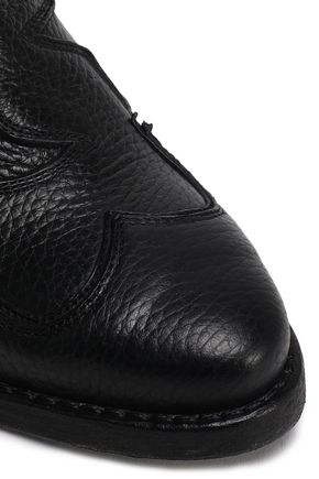 McQ Alexander McQueen Textured-leather mules