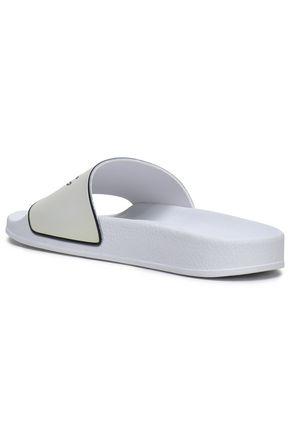 McQ Alexander McQueen Embossed rubber slides