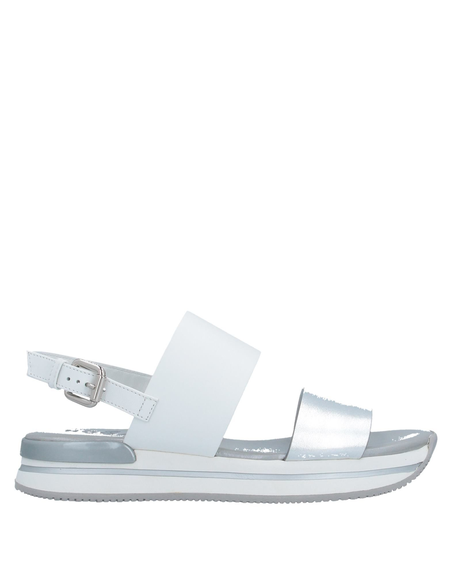 HOGAN Sandals. laminated effect, no appliqués, two-tone, buckling ankle strap closure, round toeline, flat, leather lining, rubber cleated sole, contains non-textile parts of animal origin. Soft Leather