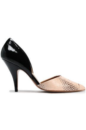 3.1 PHILLIP LIM Diamond snake and patent-leather pumps