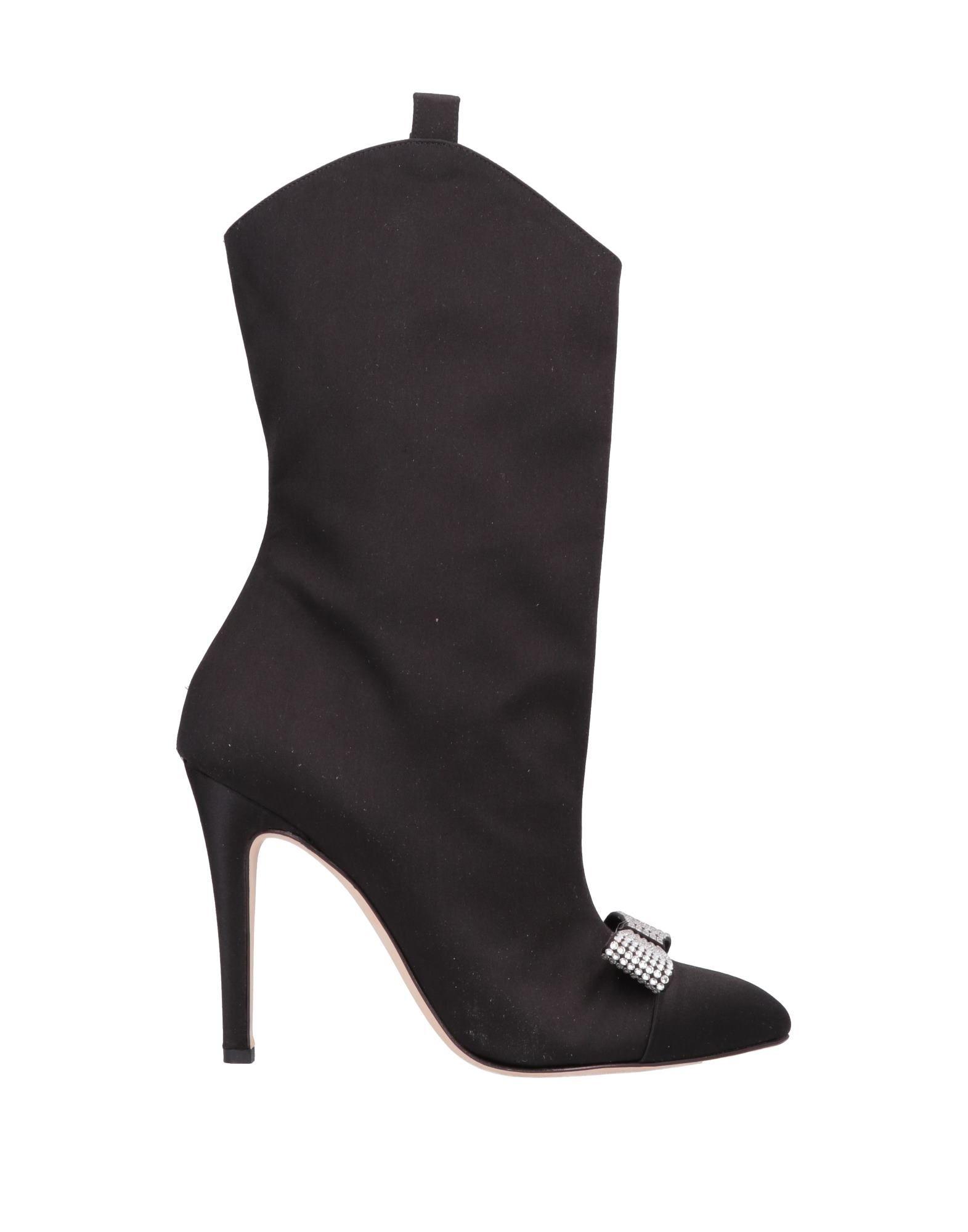 《セール開催中》ALESSANDRA RICH レディース ショートブーツ ブラック 36 紡績繊維