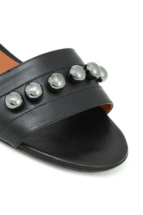 EMPORIO ARMANI Studded leather sandals