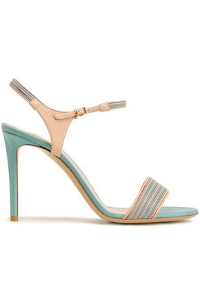 GIORGIO ARMANI Color-block leather sandals