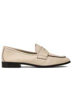 GIORGIO ARMANI Textured-leather loafers