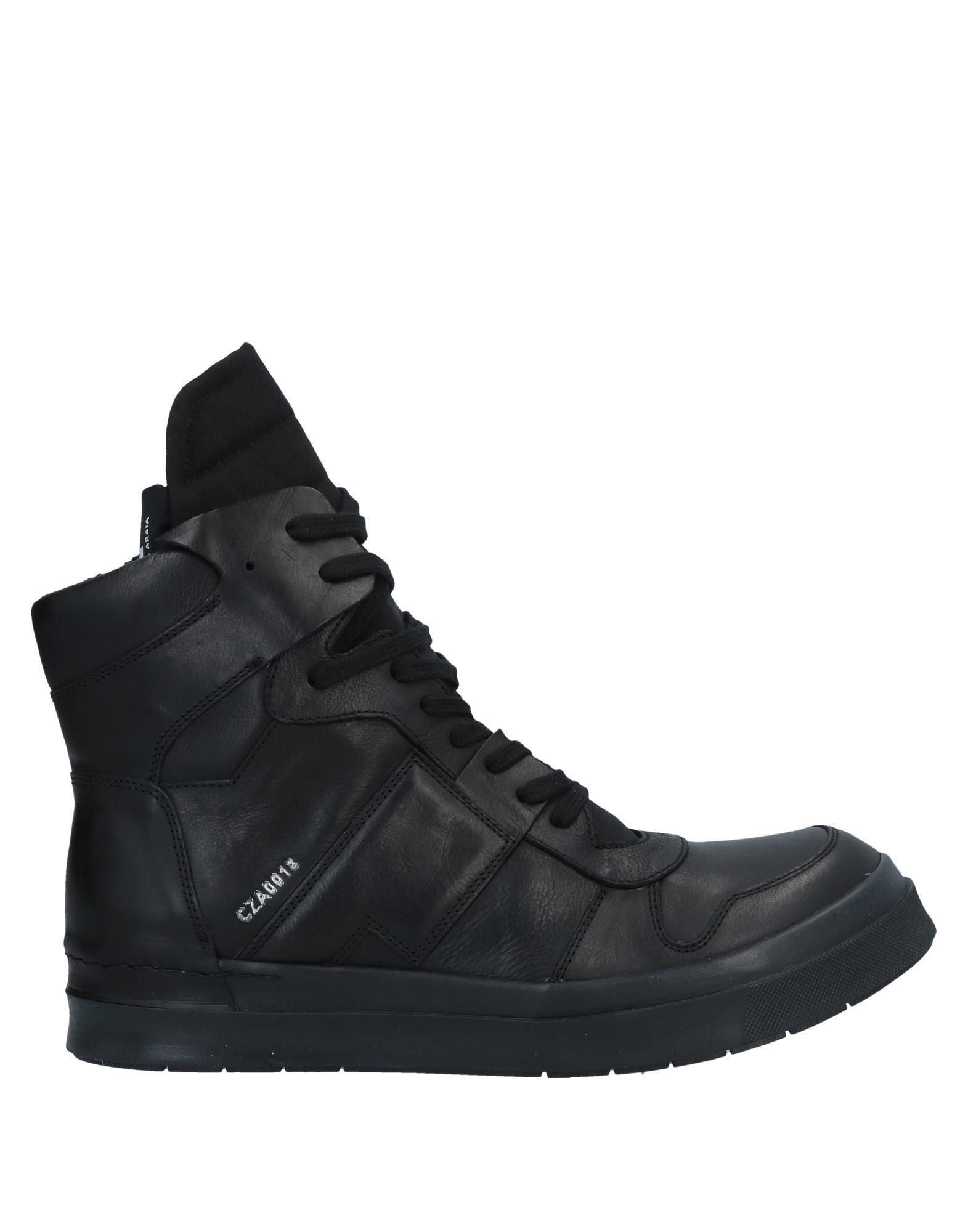 《送料無料》CINZIA ARAIA メンズ スニーカー&テニスシューズ(ハイカット) ブラック 43 牛革(カーフ) / 紡績繊維