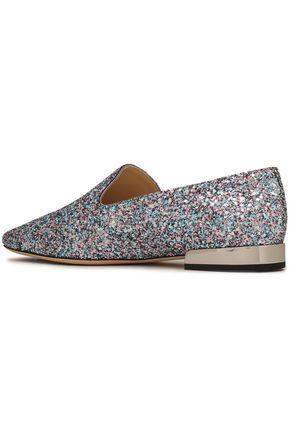 JIMMY CHOO Glittered slippers