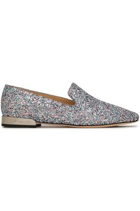 JIMMY CHOO Glittered slippers