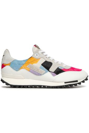 GOLDEN GOOSE DELUXE BRAND Color-block calf hair and leather sneakers