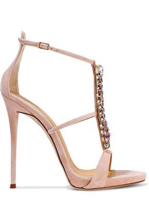 dcbb913dd501 GIUSEPPE ZANOTTI Coline crystal-embellished suede sandals