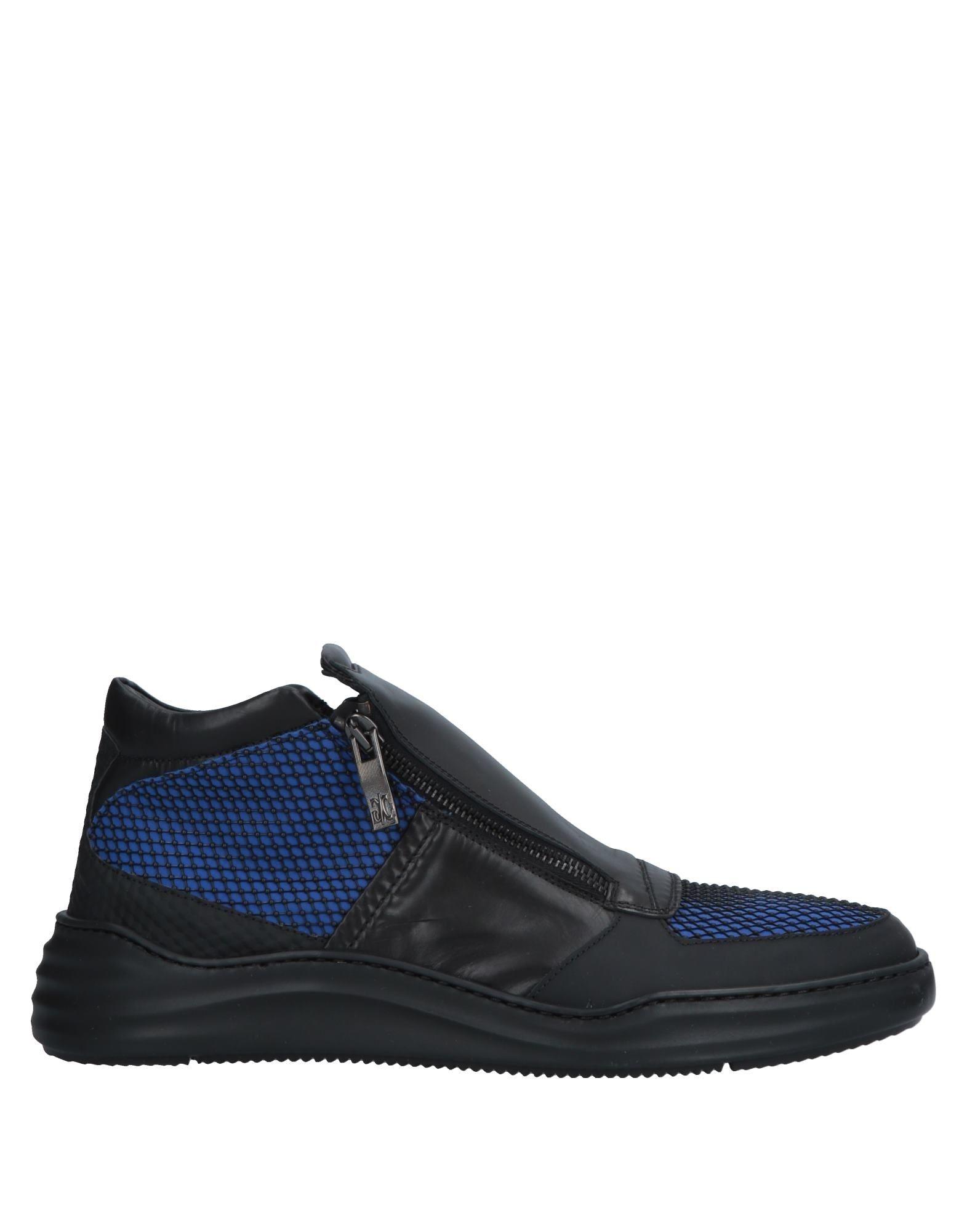 《セール開催中》GIOVANNI CONTI メンズ スニーカー&テニスシューズ(ハイカット) ブラック 40 革 / 紡績繊維