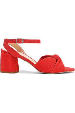 REBECCA MINKOFF Romy twisted suede sandals