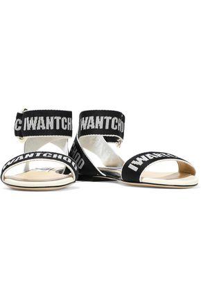 Jimmy Choo Breanne Logo-jacquard Sandals In Black