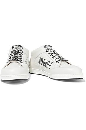 JIMMY CHOO Miami embossed leather sneakers