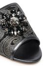 DOLCE & GABBANA Crystal-embellished brocade mules
