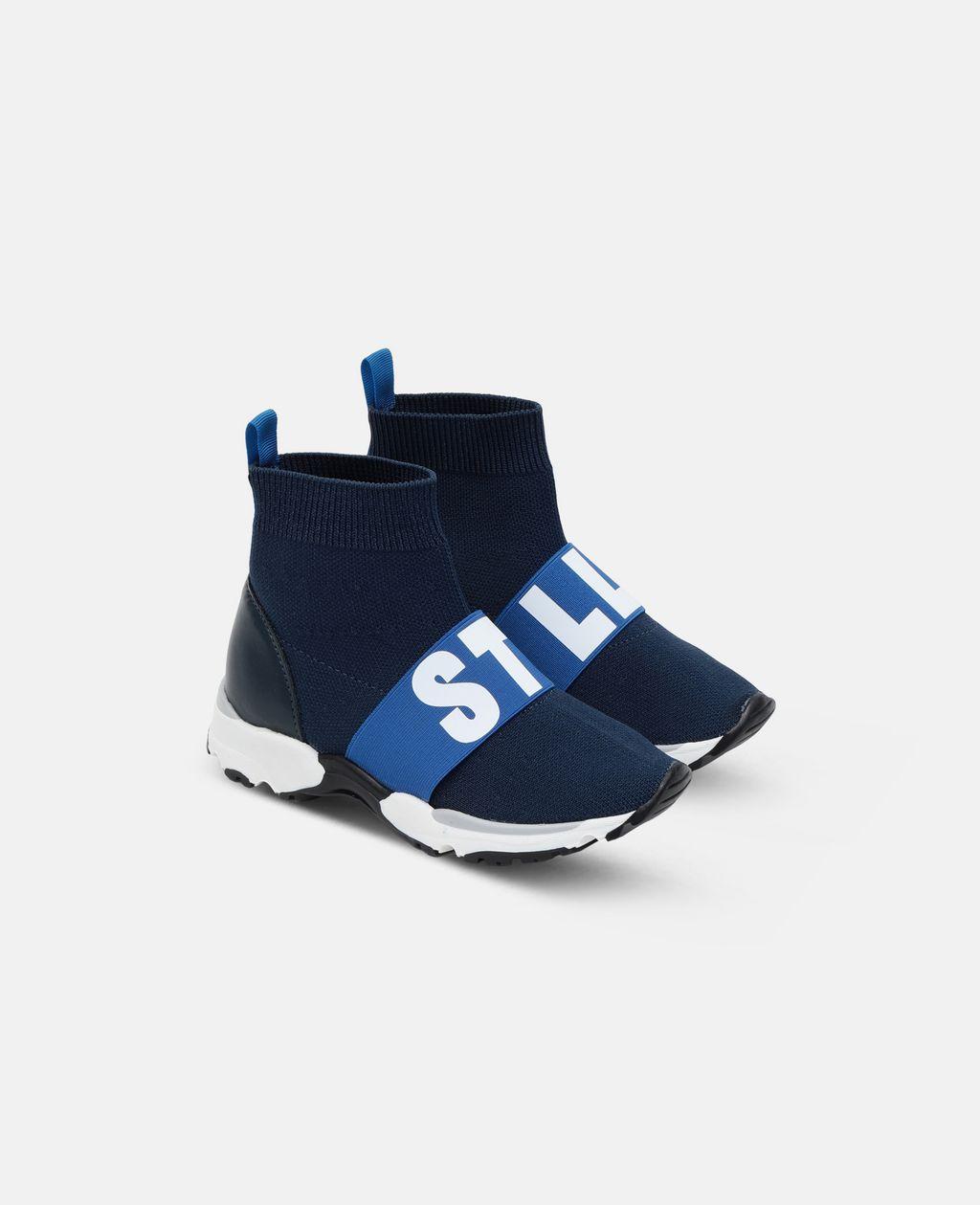 Stella McCartney - Blue / Navy Sock Sneaker - 4
