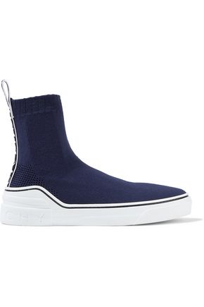 GIVENCHY George V stretch-knit slip-on sneakers